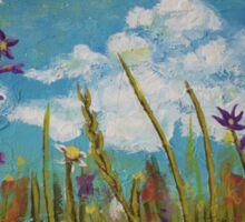 Wildflower Sky by Rachael Rose  Sticker