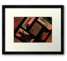 Colorful Light and Glass Framed Print