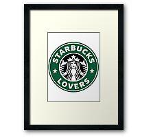 Starbucks lovers Framed Print