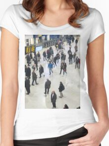 London Waterloo Station Women's Fitted Scoop T-Shirt