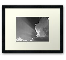LIGHT SHINNING THROUGH Framed Print