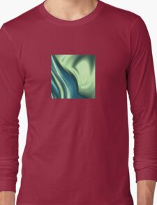 Basic Beliefs Abstract In Peppermint Green and Jade Long Sleeve T-Shirt