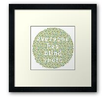 Everyone Has Their Blind Spots - V3 Ishihara Framed Print