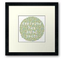 Everyone Has Their Blind Spots - V3 Ishihara Framed Print