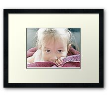 Peeking Eyes Framed Print