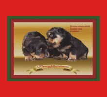 Vector Rottweiler Puppy Christmas Wishes  One Piece - Long Sleeve