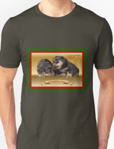 Vector Rottweiler Puppy Christmas Wishes  T-Shirt
