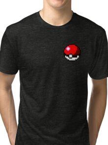 Pokeball 8-Bit Tri-blend T-Shirt