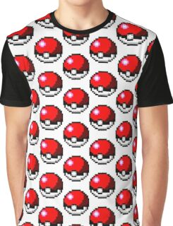 Pokeball 8-Bit Graphic T-Shirt