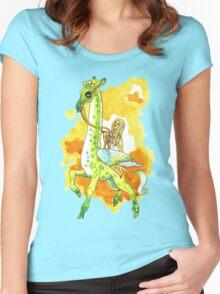 Katie's Flying Giraffe Women's Fitted Scoop T-Shirt