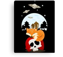 Dreaming of Cryptids and UFOs Canvas Print