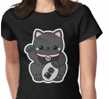 Kuroi Maneki Neko Womens Fitted T-Shirt