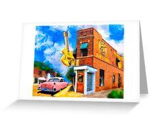 Musical Memories - Sun Studio in Memphis Tennessee Greeting Card