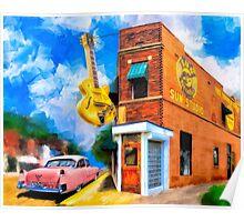 Musical Memories - Sun Studio in Memphis Tennessee Poster