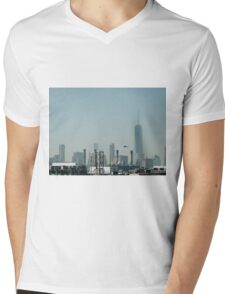 Freedom Tower in the Distance  Mens V-Neck T-Shirt