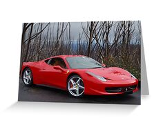 Ferrari 458 side/front Greeting Card