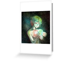 The old Goddess weeps Greeting Card