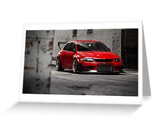 Stunning Red Evo8 Greeting Card