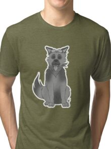 Vintage cartoon Dogmeat Tri-blend T-Shirt