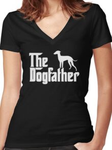 The Dogfather Italian Greyhound Women's Fitted V-Neck T-Shirt