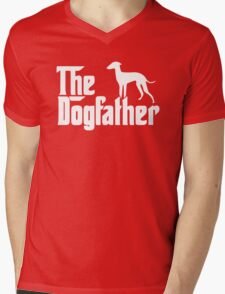 The Dogfather Italian Greyhound Mens V-Neck T-Shirt