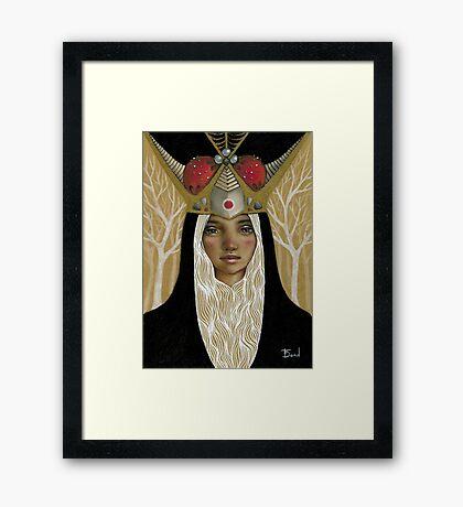La Tristesse Couronnée Framed Print