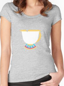 Chipped Tea Cup Women's Fitted Scoop T-Shirt