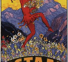 Vintage poster - Gstaad by mosfunky
