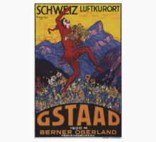 Vintage poster - Gstaad One Piece - Long Sleeve