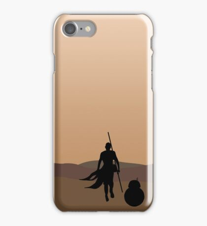 Rey and BB-8 Silhouette  iPhone Case/Skin