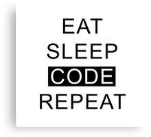 Eat Sleep Code Repeat Canvas Print