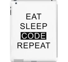 Eat Sleep Code Repeat iPad Case/Skin