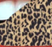 Cheetah Tongue Sticker
