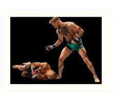 Conor McGregor Knocks Out Jose Aldo (base) Art Print