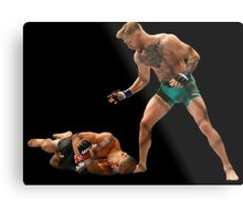 Conor McGregor Knocks Out Jose Aldo (base) Metal Print