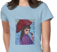 Walk Between The Raindrops Womens Fitted T-Shirt