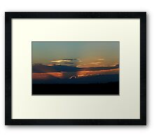 Gray Blue Sunset Framed Print