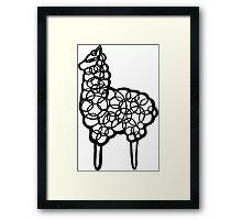 Llama scribbler Framed Print