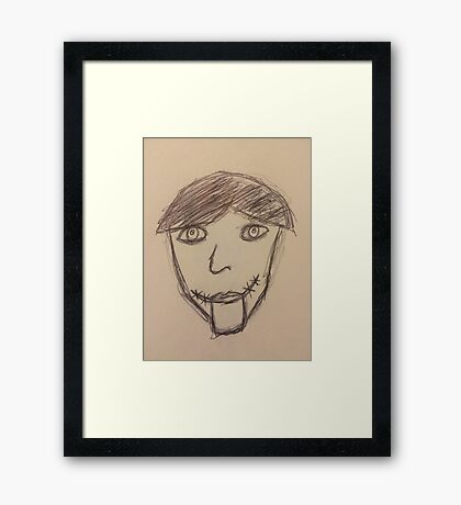"""""""Perfect"""" Doll Framed Print"""
