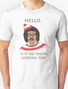 Hello Lionel Richie Where's Wally Funny Humour T-Shirt