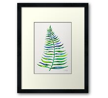 Palm Leaf – Green Palette Framed Print