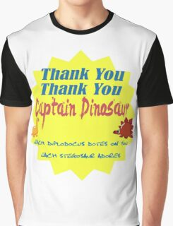 Captain Dinosaur Graphic T-Shirt