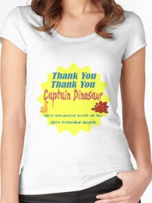 Captain Dinosaur Women's Fitted Scoop T-Shirt