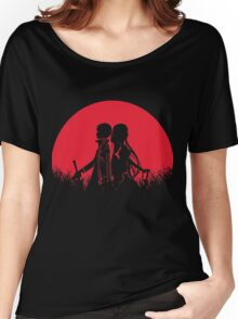 Kirito Asuna Red Moon Women's Relaxed Fit T-Shirt