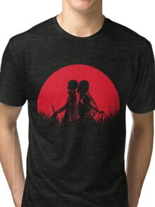 Kirito Asuna Red Moon Tri-blend T-Shirt