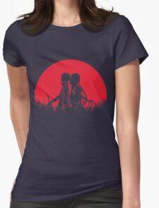 Kirito Asuna Red Moon Womens Fitted T-Shirt