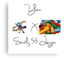 Yuan x Exactly 53 Legos Canvas Print