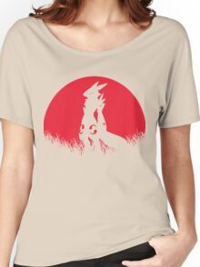 RENAMON RED MOON Women's Relaxed Fit T-Shirt