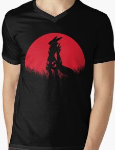 RENAMON RED MOON Mens V-Neck T-Shirt