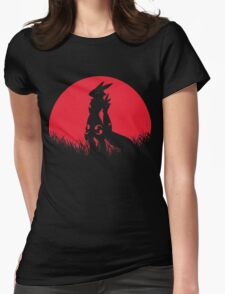 RENAMON RED MOON Womens Fitted T-Shirt
